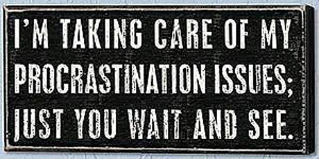 Coaching webinar: Overcoming Procrastination tickets