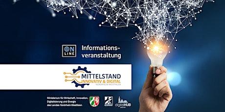 Info-Webinar: Mittelstand Innovativ & Digital Tickets