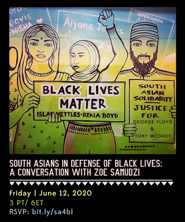 South Asians in Defense of Black Lives: Conversation with Zoé Samudzi image
