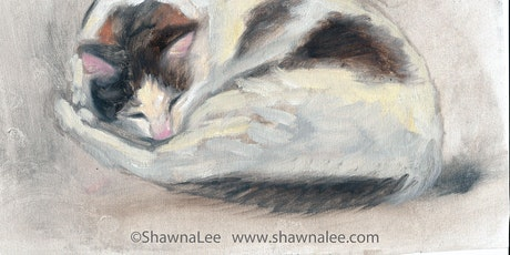 CAT Portrait Oil Painting Demonstration by ShawnaLee tickets