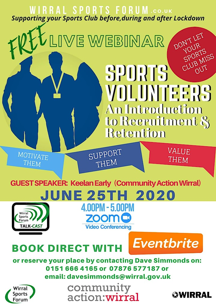 Live Webcast on the recruitment and retention of volunteers image