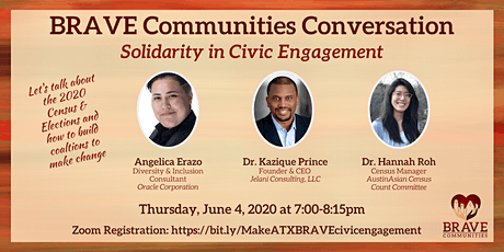 BRAVE Communities Conversation - Solidarity in Civic Engagement tickets