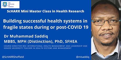 Building successful health systems in fragile states during or post-COVID19 tickets