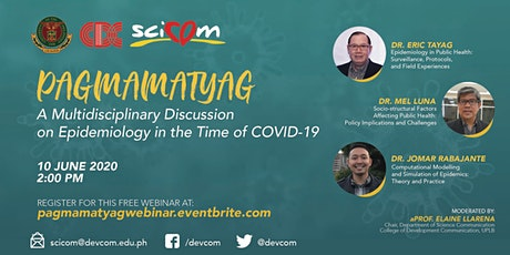 PAGMAMATYAG: A WEBINAR ON EPIDEMIOLOGY IN THE TIME OF COVID-19 tickets