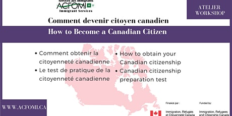 Commnent devenir citoyen canadien / How to Become a Canadian Citizen billets