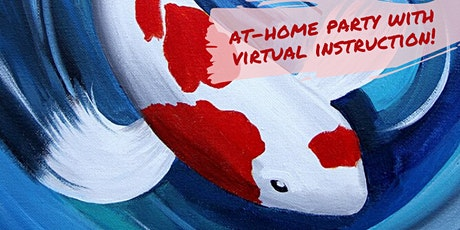 Red & White Koi Painting with Virtual Instruction from Brush & Cork tickets