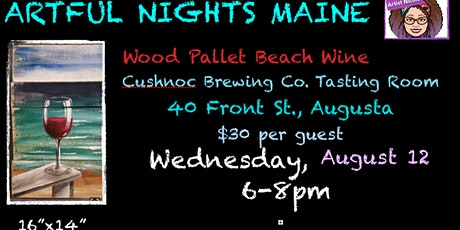 Wood Pallet Wine at the Beach at Cushnoc Brewing Co. Tasting Room tickets