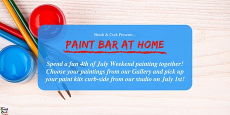 PAINT BAR AT HOME ~ Pick up your painting kit from B & C studio on July 1st tickets