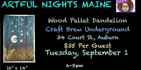 Wood Pallet Dandelion at Craft Brew Underground tickets