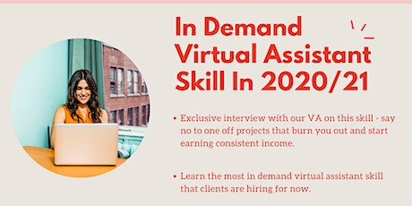 In Demand Virtual Assistant Skill For 2020/21 tickets