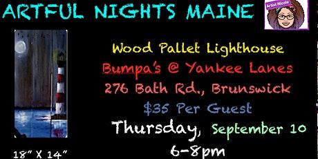 Wood Pallet Lighthouse at Bumpas at Yankee Lanes tickets
