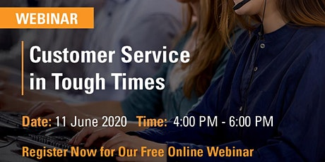 FREE LIVE WEBINAR: Customer Service in Tough Times tickets