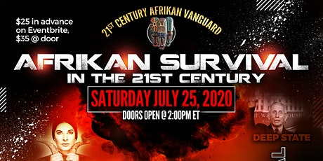 Afrikan Survival in the 21st Century Live Lecture tickets