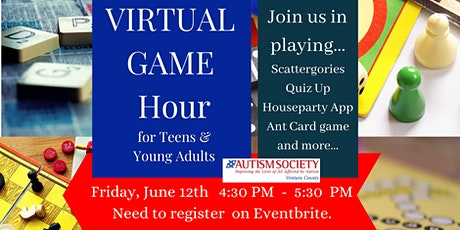 Virtual Game Hour for ASD Teens and Young Adults tickets
