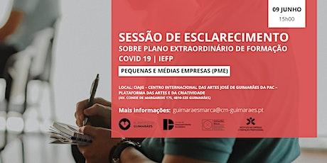 Plano Extraordinário de formação Covid 19 - Pequenas e Médias Empresas bilhetes