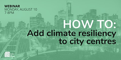 How to add climate resilient features to city centres tickets