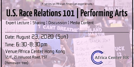U.S. Race Relations 101 | Performing Arts tickets