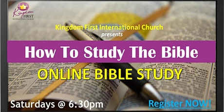 How to  Study the Bible tickets