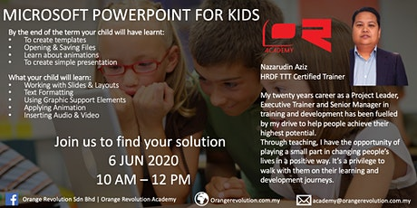 Microsoft Powerpoint for Kids tickets