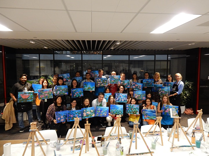 Paint and Sip Class: Lotus lake image