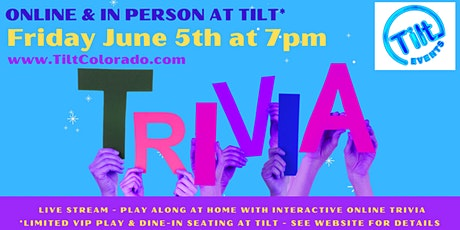 Interactive & In Person Tilt Trivia Show tickets