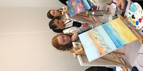 Paint and Sip Class: Twilight Walk on the Beach tickets