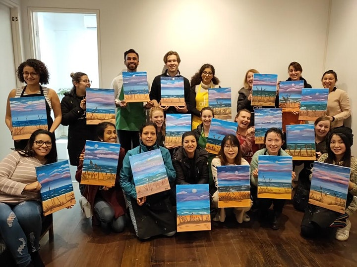 Paint and Sip Class: Twilight Walk on the Beach image