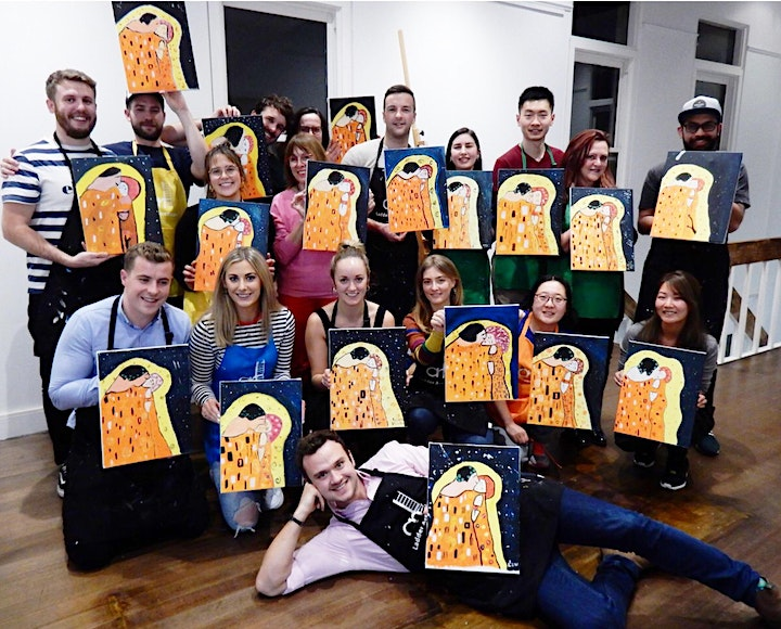 Paint and Sip Class: The Kiss of Klimt image
