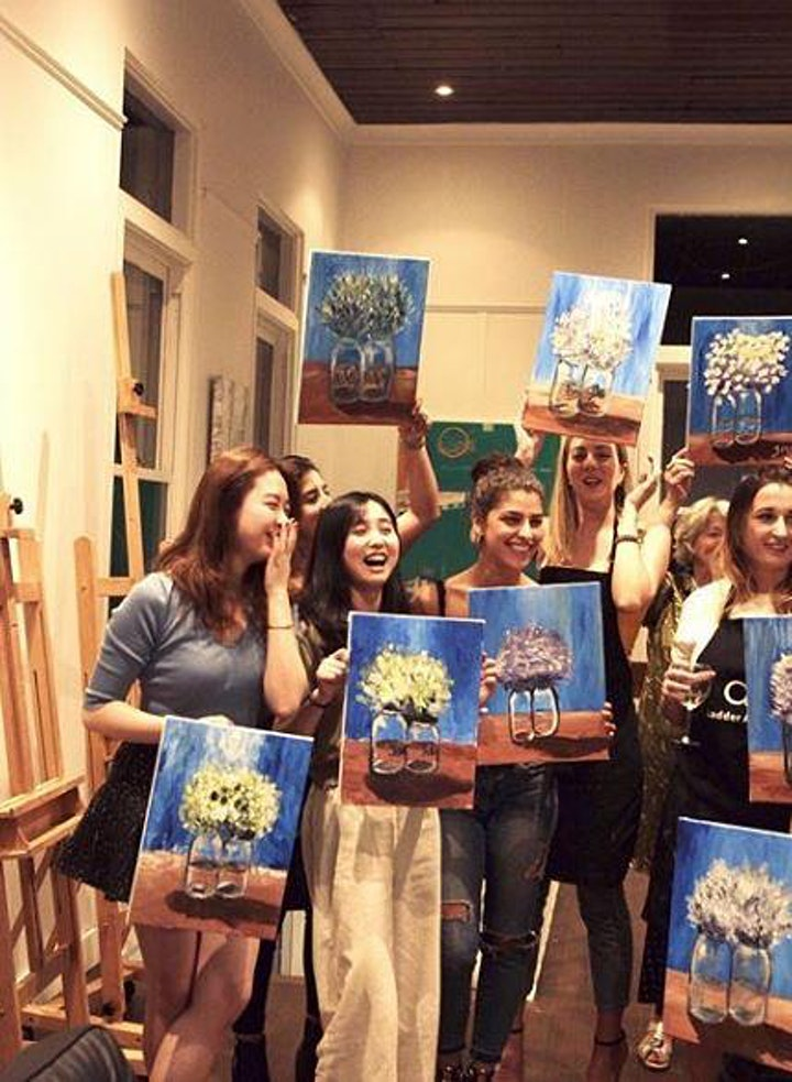 Paint and Sip Class: Heavenly Hydrangeas image