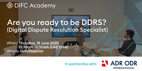 Are you ready to be DDRS? (Digital Dispute Resolution Specialist) tickets
