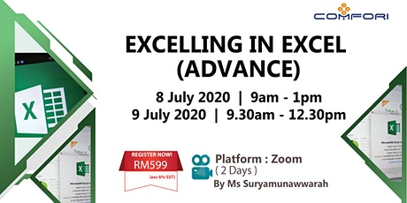 Virtual Workshop: Excelling In Excel (Advance) tickets