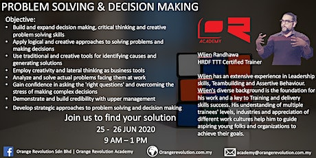 Problem Solving & Decision Making tickets