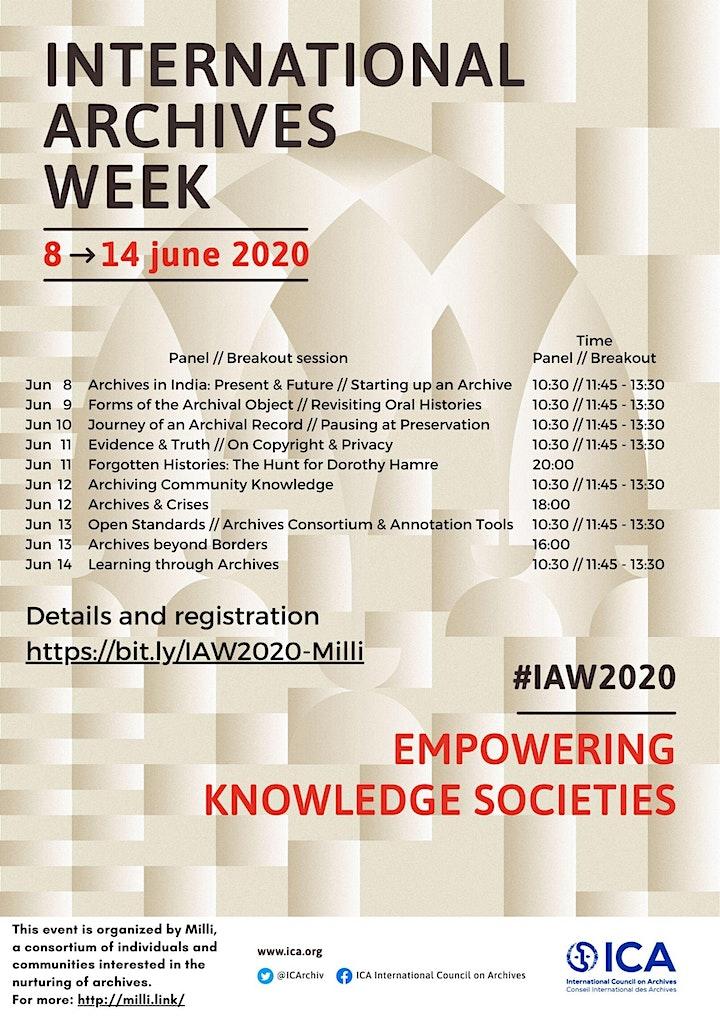 International Archives Week 2020 - June 8-14 - Milli Sessions image