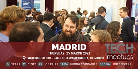 Madrid Tech Job Fair Spring 2021 by Techmeetups tickets