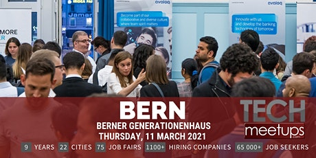 Bern Tech Job Fair Spring 2021 by Techmeetups billets