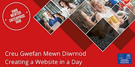Creu Gwefan Mewn Diwrnod   Creating a Website in a Day tickets