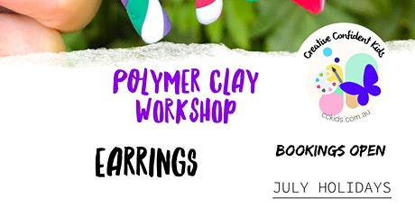 Kids Polymer Clay Earring Workshop (+ take home Polymer clay kit) tickets