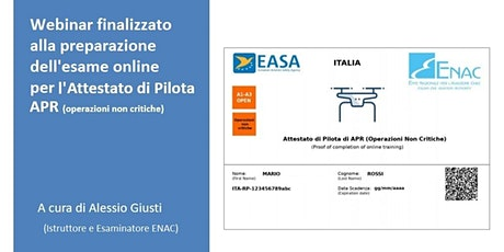 Webinar finalizzato all'esame online per Pilota APR (parte introduttiva) biglietti