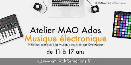 Atelier MAO Ados : Initiation à la musique électronique billets