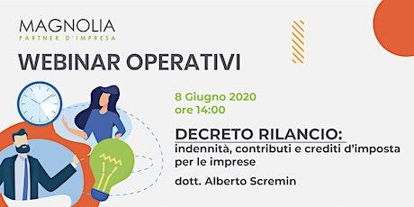 WEBINAR: Decreto Rilancio - indennità, contributi e crediti d'imposta biglietti