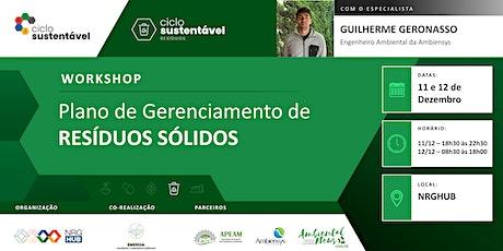 Workshop - Plano de Gerenciamento de Resíduos Sólidos bilhetes