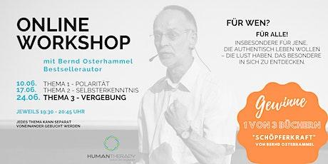 Workshop Schöpferkraft - 3 von 3 -  Thema Vergebung Tickets