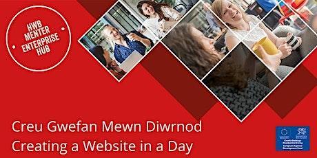 Covid-19:   Creu Gwefan Mewn Diwrnod / Creating a Website in a Day tickets