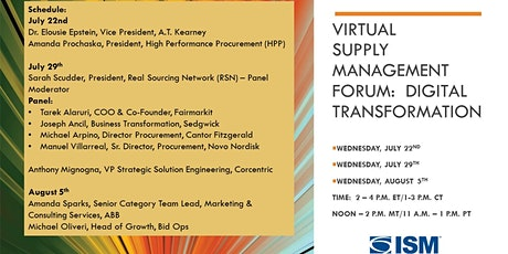 ISM-NJ Virtual Supply Management Forum:  Digital Transformation tickets