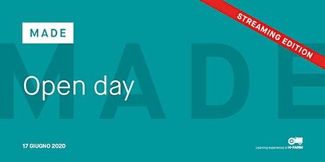 Online Open Day Master in Digital Entrepreneurship   MADE biglietti