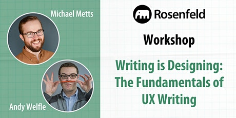 UX Workshop: Writing Is Designing tickets