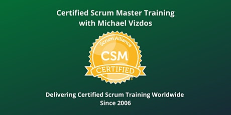 Certified Scrum Master (CSM) Training with Scrum Alliance Certification tickets