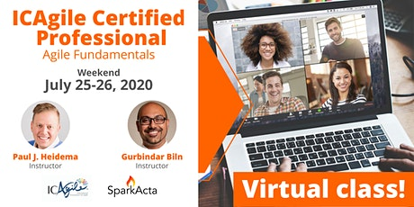 ICAgile Certified Professional (ICP) - Agile Fundamentals Training - July 2020 tickets