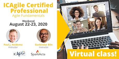 ICAgile Certified Professional (ICP) - Agile Fundamentals Training - August 2020 tickets