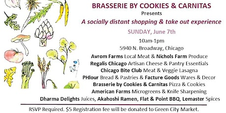 A Socially Distant Shopping & Take Out Experience tickets